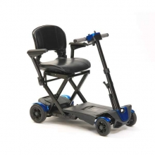 4 Wheel Auto Folding Scooter - Blue (Batteries Included)